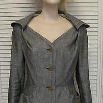 Vivienne Westwood Grey Linen Monday Jacket Fitted Peplum Size 42 Photo