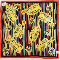 Vivienne Westwood Handkerchief / Scarf / Bandana - Red Border Ribbon Stripes Photo