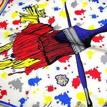 Vivienne Westwood Handkerchief Scarf Bandana White Paint Auth New  Photo