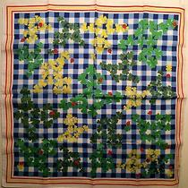 Vivienne Westwood Handkerchief / Scarf / Blue Gingham Ladybugs & Clover Photo