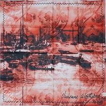 Vivienne Westwood Japan Ltd London Scene Orange Red Large Scarf W/gift Wrap-66cm Photo