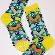 Vivienne Westwood Japan Ltd Orb Pattern Socks-23-24cm(l)-Mustard Yellow Photo