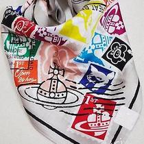 Vivienne Westwood Japan Stamp Print Handkerchief Greeting Card Sticker Gift Set Photo