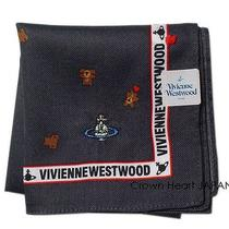 Vivienne Westwood License Handkerchief / Mini-Scarf Bear Heart Charcoal Japan Photo