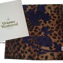 Vivienne Westwood Licensed Cotton Scarf Leopard Let It Rock W/ Gift Bag Japan Photo