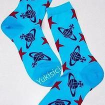 Vivienne Westwood Licensed in Japan Ltd Orb & Stars Socks-23-24cm(l)-Aqua Blue Photo