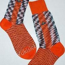 Vivienne Westwood Licensed in Japan Ltd Orb Two Tone Socks-23-24cm(l)-Orange Photo