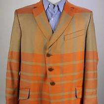 Vivienne Westwood Man Aw 13/14 Orange Plaid 3-Btn Wool Blazer Jacket 44r Photo