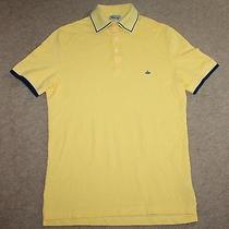 Vivienne Westwood Man Mens Short Sleeve Yellow Polo Shirt Orb Logo Size Medium Photo