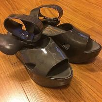Vivienne Westwood Melissa Winged Rocking Horse Sandals Shoes in Marble Gray  Photo