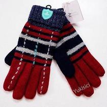 Vivienne Westwood Men Japan One Size Wool Blend Knit Gloves-26cm-Red & Grey Photo