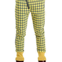 Vivienne Westwood Men Yellow Rainproof Fabric Pants Pied De Poule Italy Made Photo