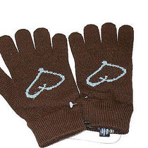 Vivienne Westwood Mens Winter Warm  Wool Blend Gloves Brown Small Photo