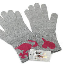 Vivienne Westwood Mens Winter Warm  Wool Blend Gloves Grey Medium Photo