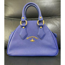 Vivienne Westwood Orb Anglomania Blue Gold Hand Bag Photo