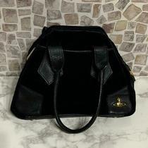 Vivienne Westwood Orb Black Velor Hand Bag Photo