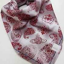Vivienne Westwood Orb & Paisley Twill Cotton Handkerchief Scarf W/gift Wrap-53cm Photo
