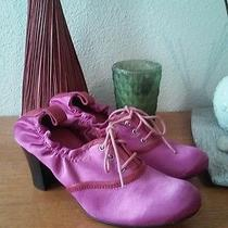 Vivienne Westwood Pink Satin and Leather Booties Sz 5.5 Made in Italy Photo