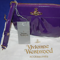 Vivienne Westwood Purple Zip Top Chatelaine Clutch New Bnwt Photo