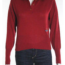 Vivienne Westwood Red Label Collared Button Front Long Sleeve Knit Top Sz S Photo