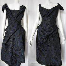 Vivienne Westwood Red Label Dress 42 1330 Black/navy Taffeta Photo