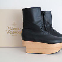 Vivienne Westwood Rocking Horse Platform Boots Wood Bottoms Black 5 7 38 770 Photo