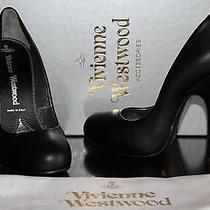 Vivienne Westwood Skyscraper Shoe Black Leather  7 707 Photo
