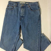 Vntg Gap Blue Jeans No 5 Women's Sz 14 Mom High Rise Loose Fit Ankle Light Wash Photo