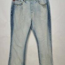 Vntg Tommy Hilfiger Jeans Studded Five Pocket Button Zip Fly  Womens Size 33 32 Photo