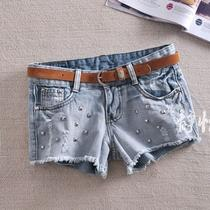 Vogue Fancy Summer Womens Denim Sexy Wild Hole Rivet Short Shorts Hot Pants D62 Photo