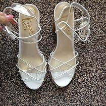 Vogue Life Boat From Urban Outfitters White Leather See Thru Heels 8  Photo