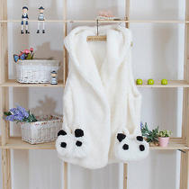 Vogue of New Fund of 2014 Autumn Winters Is Panda Lambs Wool Coats Hooded Vest Photo