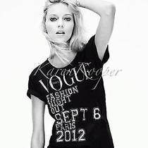Vogue Paris Fashion Night Out 2012 Limited Unisex Tee T Shirt Anja New Photo