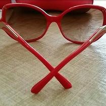 Vogue Sunglasses by Botkier in Gold and Red Cat Eyes Limited Edition Photo