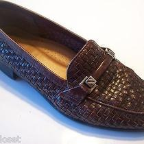 Vogue Vintage Naturalizer Brown Leather Woven Loafers Flats Oxfords Shoe Size 6 Photo