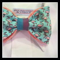'Voir-Mingo' - Adjustable Custom Tie From Vineyard Vines Flamingo Fabric Photo