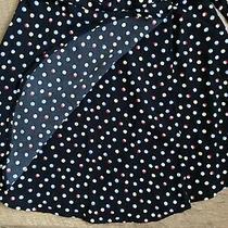 Volcom April March Polka Dot Black Mini Wrap Skirt Girls Size S Photo