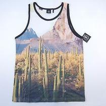 Volcom Beige White Large Tank Top Desert Photography Tshirt Mens Nwt New Photo