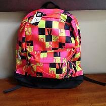 Volcom Black Pink Orange Bright Colors Backpack Nwt Photo