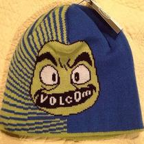 Volcom Blue/green Faces Beanie Hat Photo