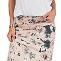 Volcom Blush Pink Ocean Floor Tie Dye Maxi Waist Fold Over Skirt Sz S Nwt Photo