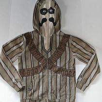 Volcom Boys Mystache Brown Full Zip Face Mask Hoodie Large Mustache Stach Photo