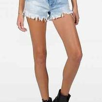 Volcom Chonies Micro Short Womens Size 5 Denim Jean Shorts Nwt New Mr244 Photo