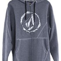 Volcom Dirty Water Basic Gray Hoodie Mens Size Medium Photo