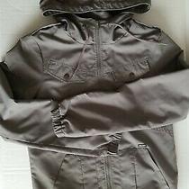 Volcom Enemy Lines Windbreaker Rain Jacket Womens Size Xs Army Olive Khaki Green Photo