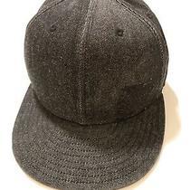 Volcom Hat Cap Flat Bill Black on Black 59fifty Fitted 7 1/4 Flexfit Skate Surf Photo