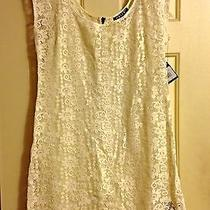 Volcom 'Heads Will Roll' Ivory Lace Dress Size Large Nwt Photo