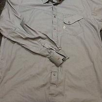 Volcom Measure Ls Button Up Mens Xl Gray Preowned Nice Dress Shirt Casual Photo