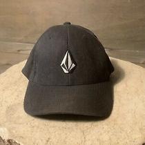 Volcom Men's Dark Gray Baseball Hat Size S/m Flexfit  Photo
