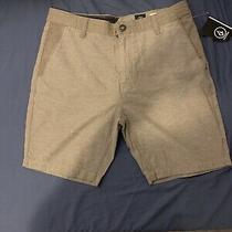 Volcom Men's Lowell Shorts Linen Blend Beige Khaki Size 33 Regular Fit New Photo
